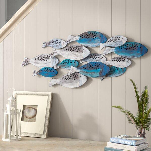 School of Fish Modern Metal Wall Decor