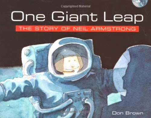 One Giant Leap, part of children's book review list about outer space
