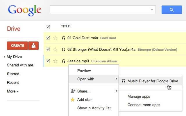 Listen To Audio - Google Drive Tips And Tricks
