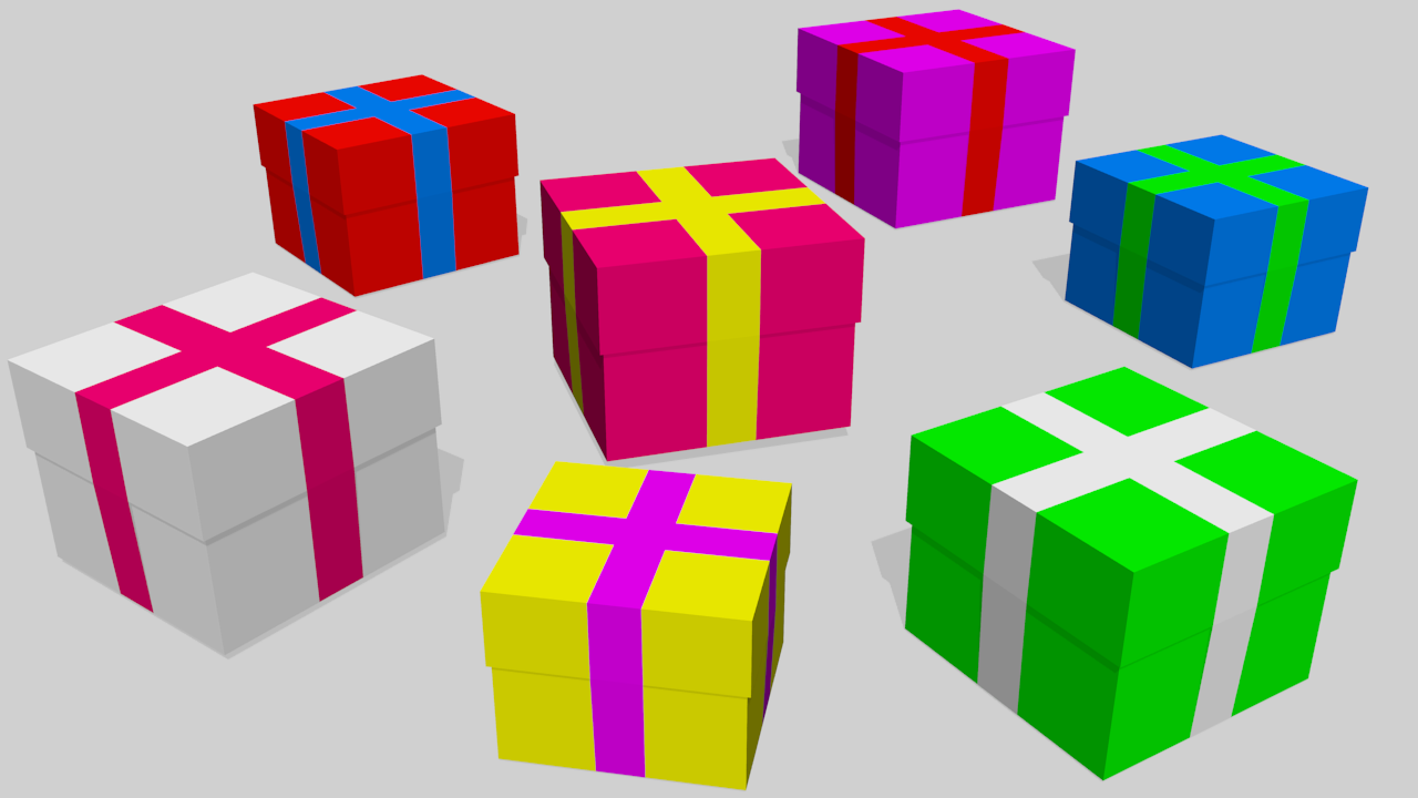 Free 3D Gifts Pack .blend