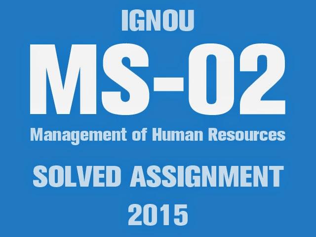 Down load IGNOU MBA Resolved Tasks 2015 (January -- June)