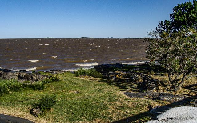 O Rio da Prata em Colonia del Sacramento, Uruguai