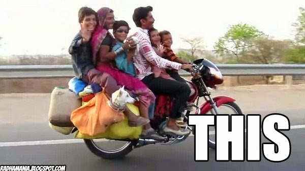 indian life hack family on bike two wheeler