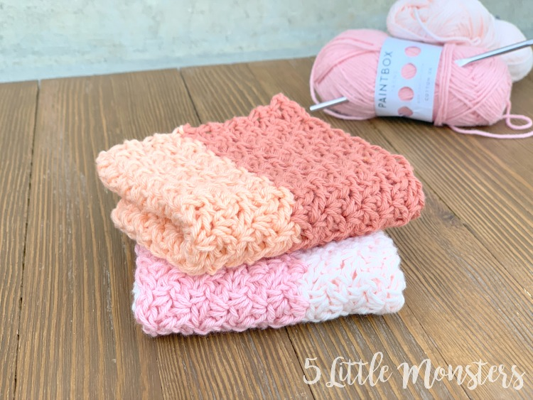 5 Little Monsters: Wattle Stitch Washcloth