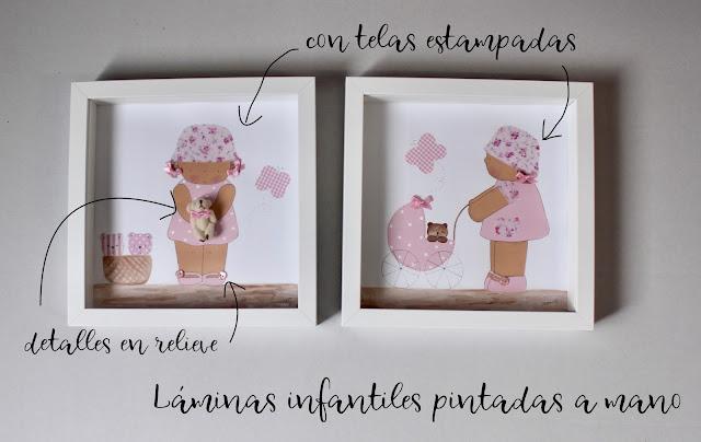 láminas infantiles pintadas a mano