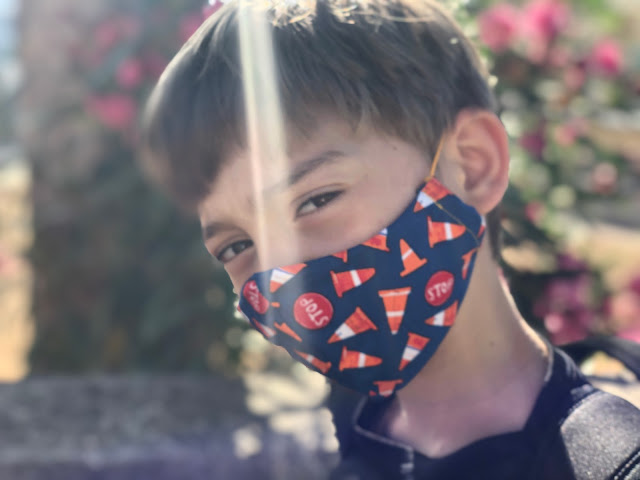 Handmade reusable cotton fabric Face mask for kids, children. Made in Istrael by TomToy, Worldwide shipping