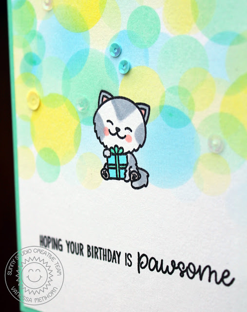 Sunny Studio Stamps: Purrfect Birthday Kitty Cat Birthday Card by Vanessa Menhorn