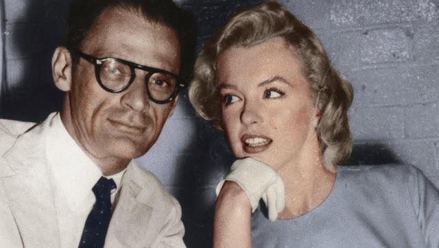 مارلين مونرو مع زوجها آرثر ميلر