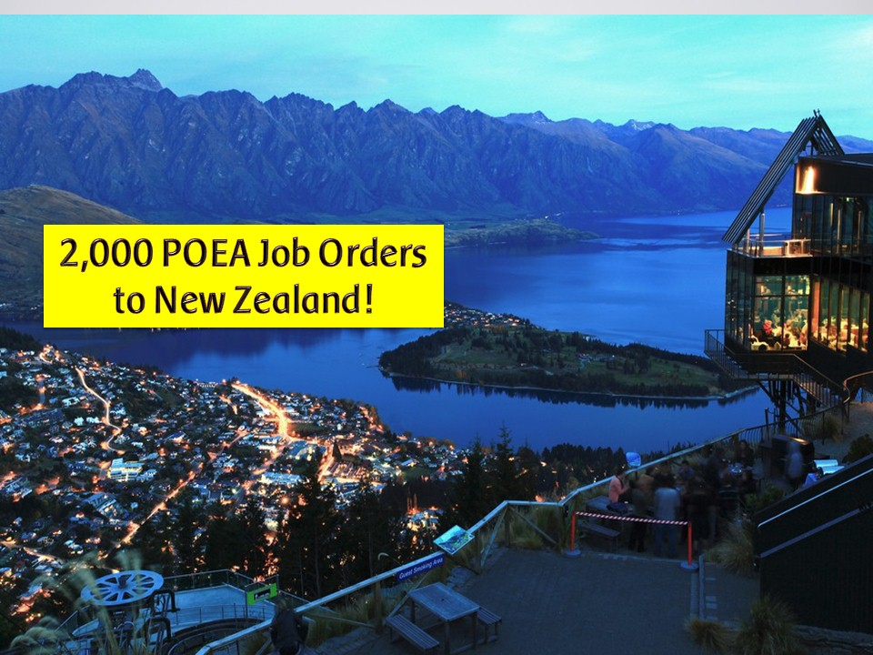Many Filipinos want to work and live in New Zealand. If you one of them, this post might help you. The following are job orders from the Philippine Overseas Employment Administration (POEA) to New Zealand as of July 2019. The country is in need of carpenters, fabricators, painters, plumbers, assistant dairy farmers, and many others. Please see below for the complete job orders to New Zealand.   Jbsolis.com is NOT a recruitment agency and we are NOT processing nor accepting applications for jobs abroad. All information in this article is taken from the website of POEA — www.poea.gov.ph for general purposes only. Recruitment agencies are being linked to each job order so that interested applicants may know where to coordinate and apply for their desired position.  Interested applicant may double-check the job orders as well as the license of the hiring recruitment agencies in the POEA website to make sure everything is legal.