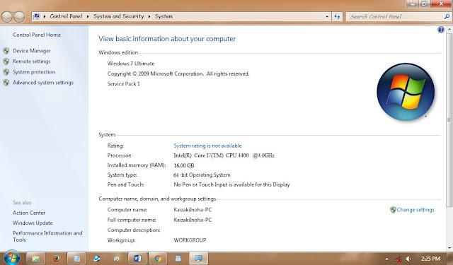Cara Mengetahui Spec Laptop Dengan Windows Properties