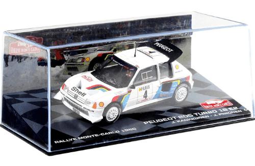 collezione rally monte carlo Peugeot 205 Turbo 16 E2 1986 Juha Kankkunen - Juha Piironen
