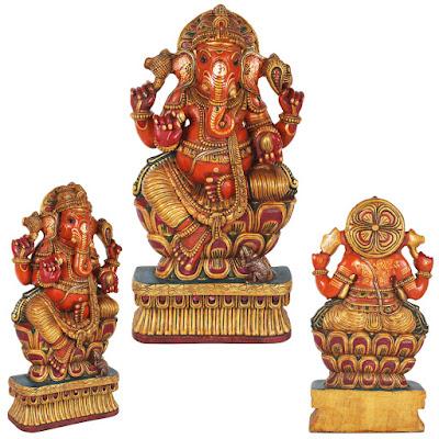 Bhagawan Ganesha Seated on Lotus