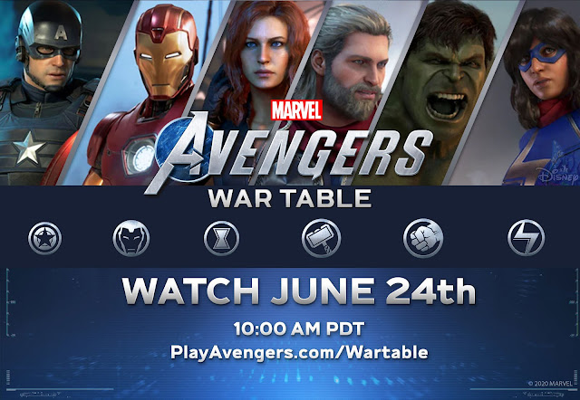 Where To Watch Marvel's Avengers Game War Table Livestream, date, co-op, news, hawkeye captain america iron man black widow ms marvel hulk thor