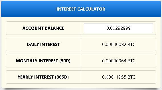 Калькулятор дохода на freebitcoin