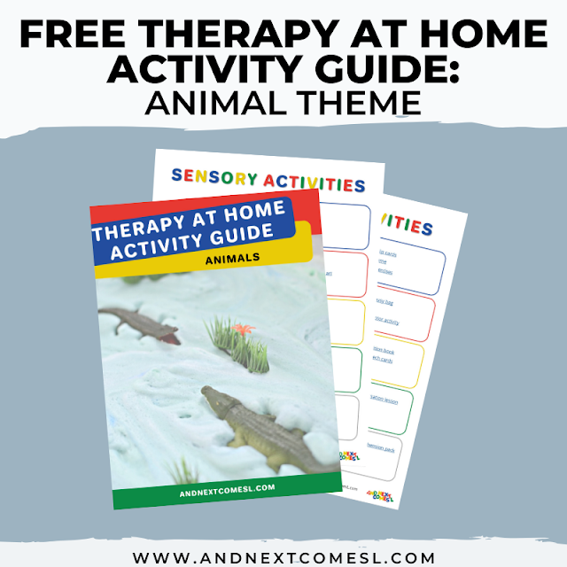 Animal themed activities for kids that can be done as therapy at home