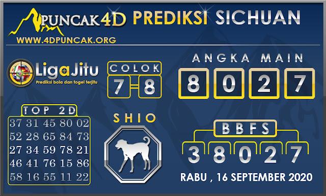PREDIKSI TOGEL SICHUAN PUNCAK4D 16 SEPTEMBER 2020
