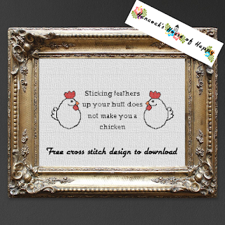 Free chicken cross stitch pattern free to download