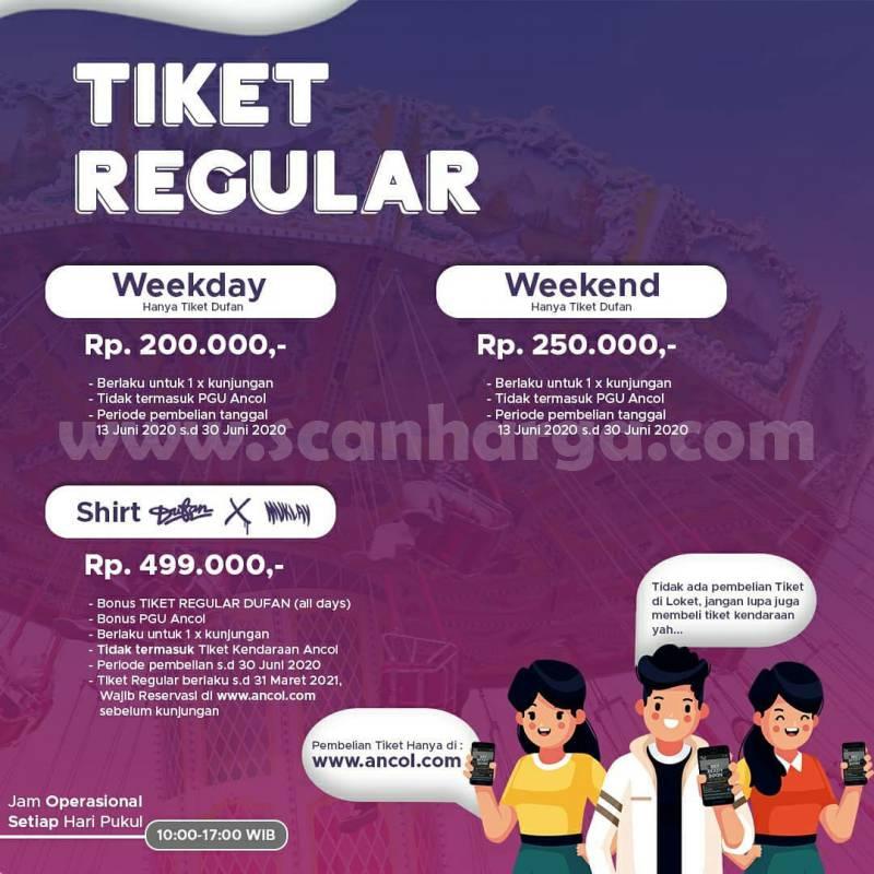 Harga Tiket Dufan Weekday dan Weekend Bulan Juni 2020