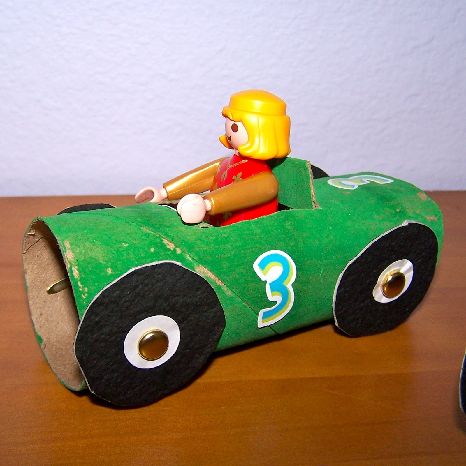 The Princess And The Tot Toilet Paper Roll Race Cars