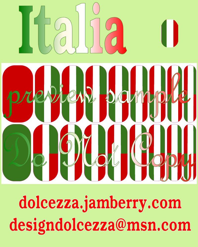 Italy Italia NAS Nail-art-studio Jamberry Italian Italian-flag