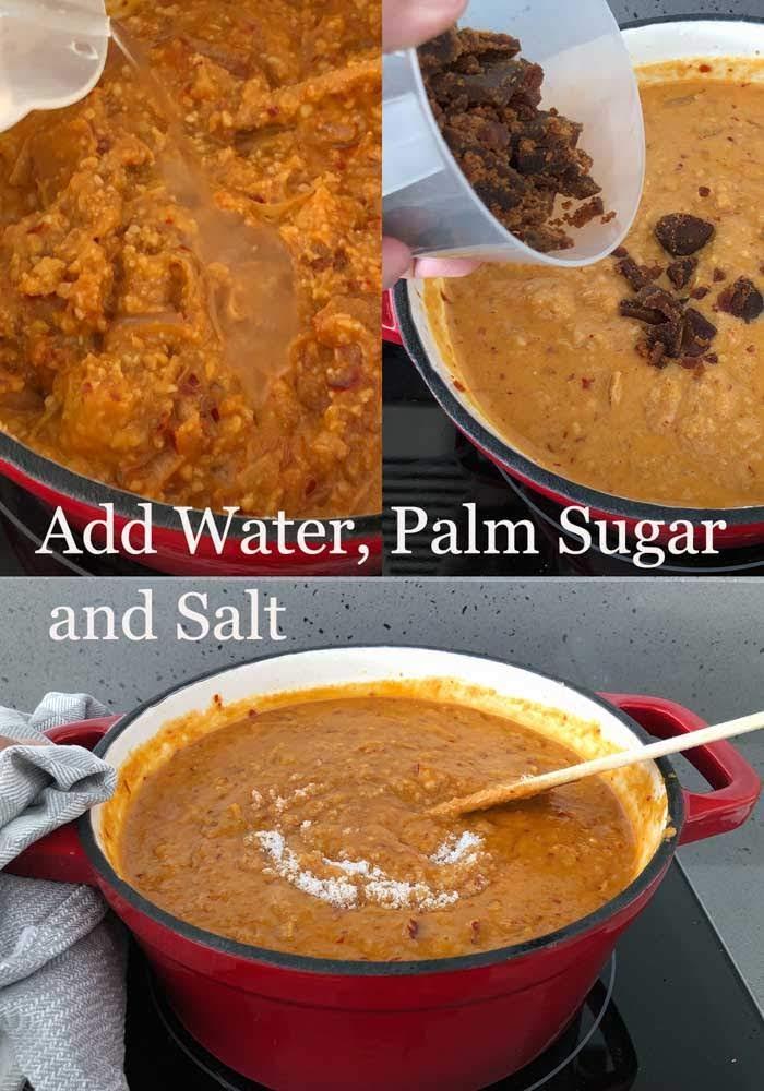 Steps to cook satay sauce