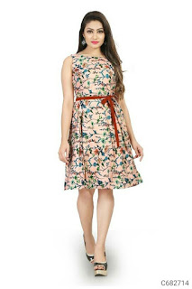 Women's Crepe Printed Dresses