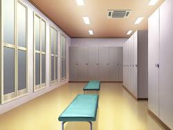 locker anime hallway aesthetic landscape