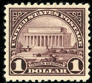 Lincoln Memorial Violet Black $1 Perf