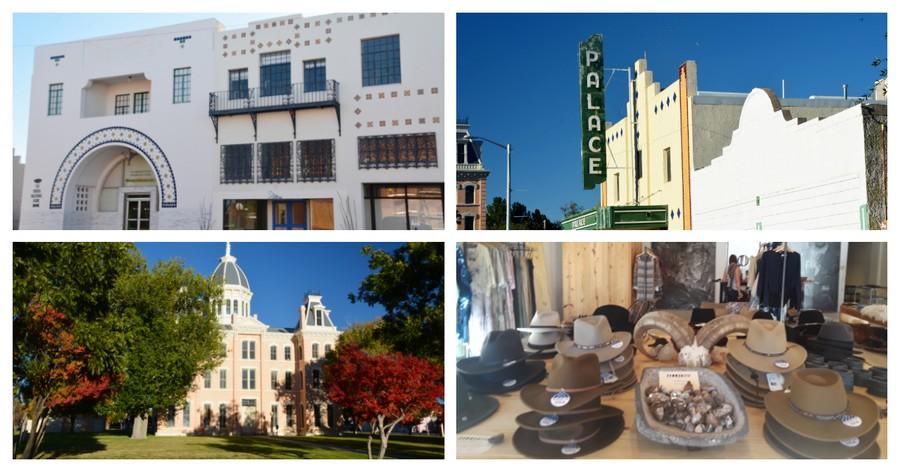 Visite du centre-ville de Marfa, Texas