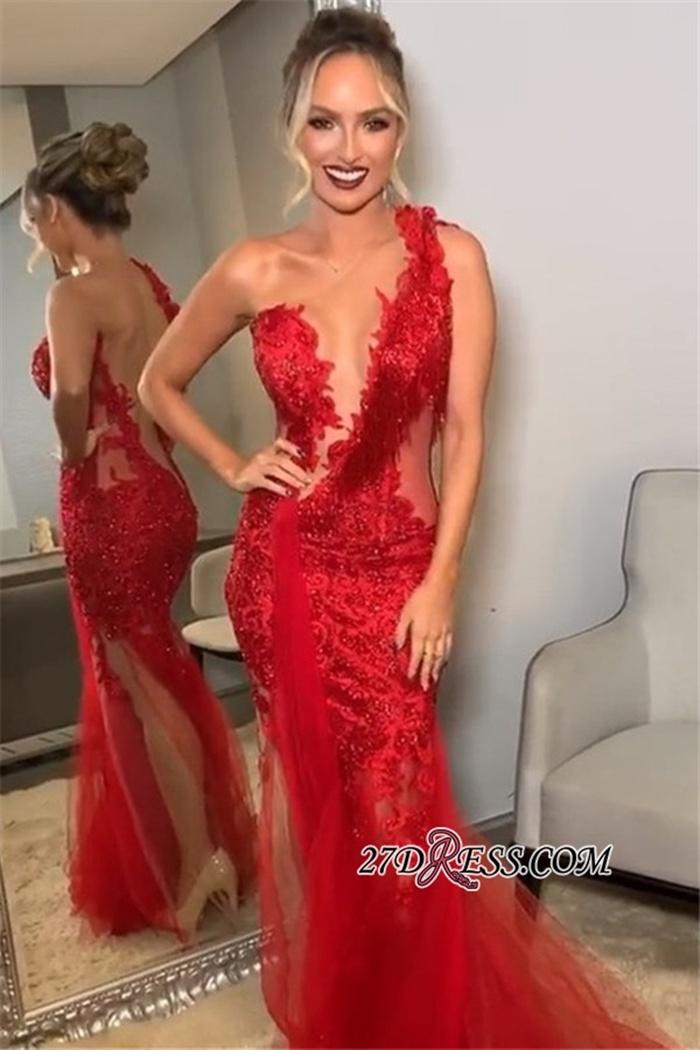https://www.27dress.com/p/backless-applique-one-shoulder-lace-burgundy-tulle-mermaid-prom-dresses-109848.html