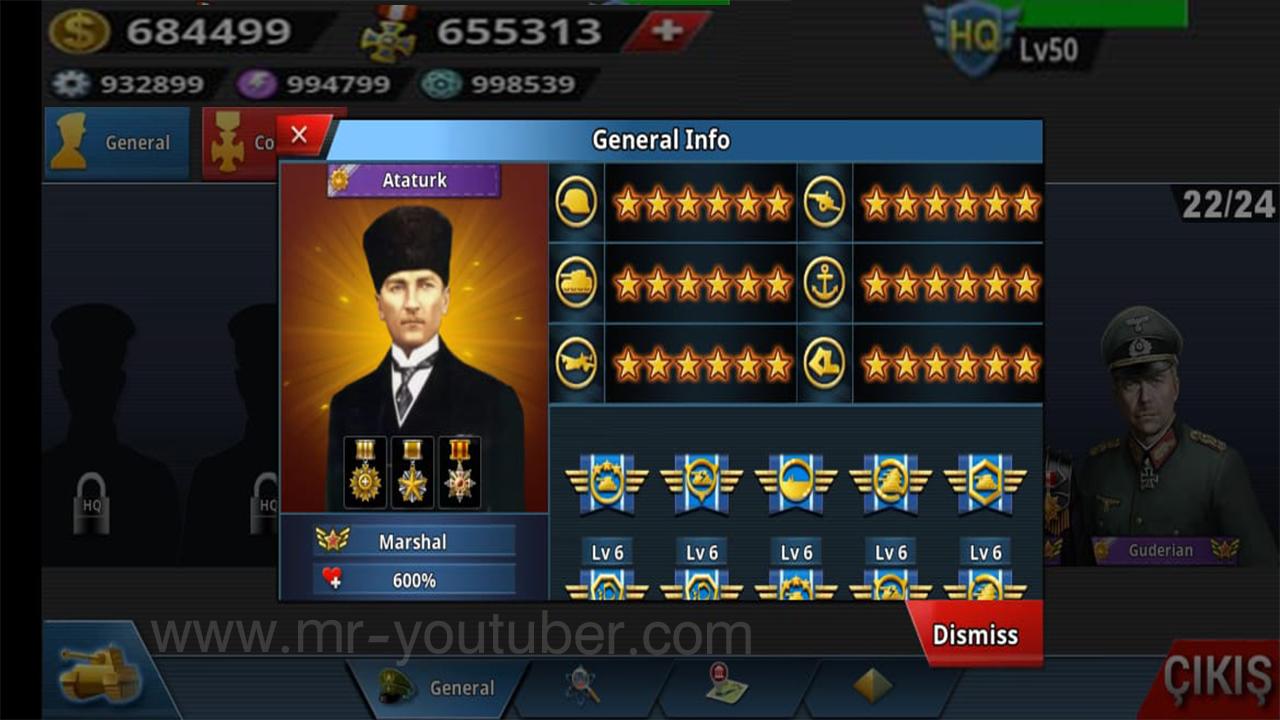 World Conqueror 4 Mod | 24 General, Unlimited All