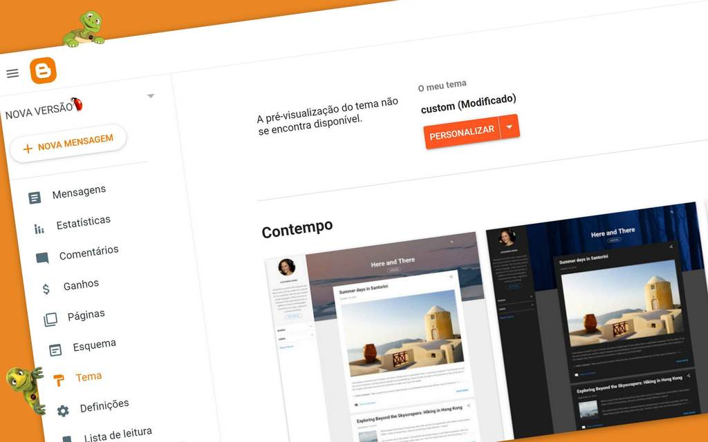 Blogger da Google implementou uma nova interface para o Blogspot