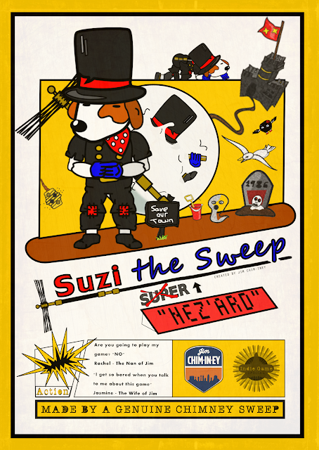 "Indie Game Artwork - Suzi the ""NEZ'ard"" Sweep"