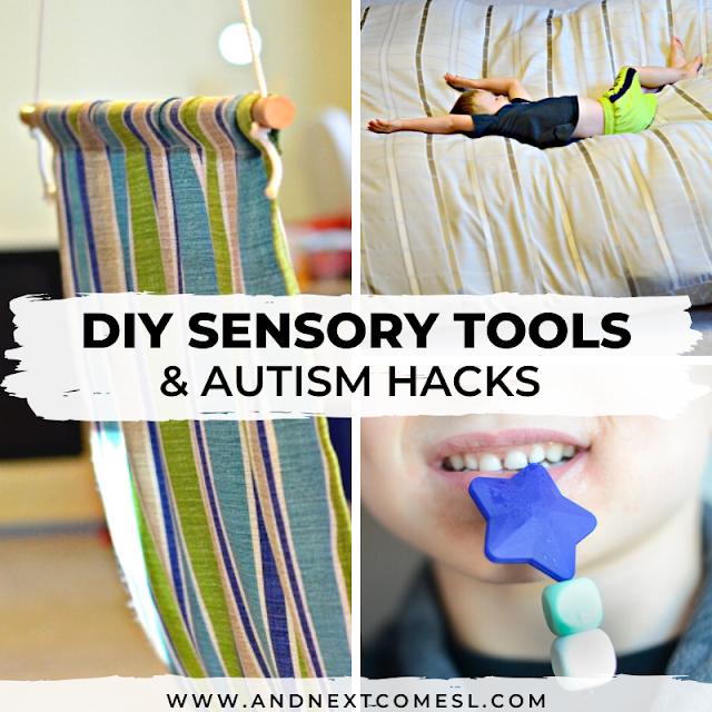 Sensory swings tutorials, DIY sensory tools, and other autism hacks for kids