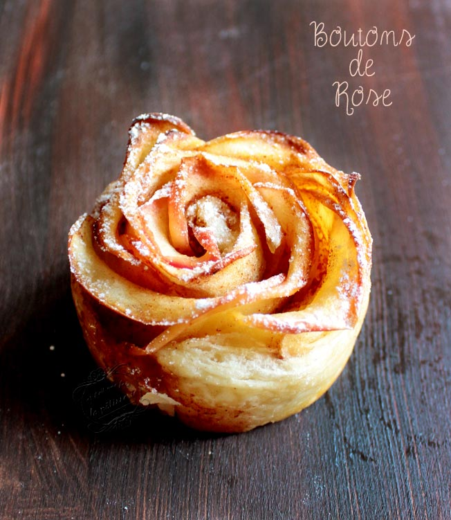Populaire préféré Pomme feuilletée en bouton de rose ~ Apple rose : Il était une @DJ_64
