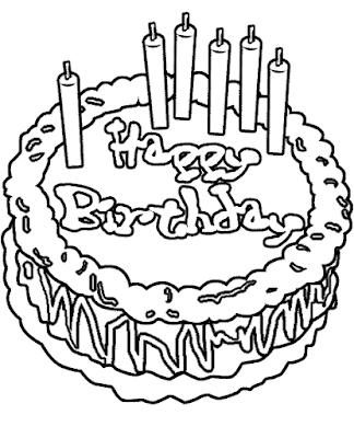 Mewarnai Kue Ulang Tahun : mewarnai, ulang, tahun, Gambar, Mewarnai