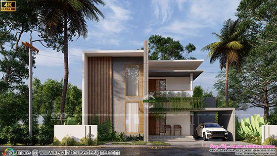 Small minimalist house rendering