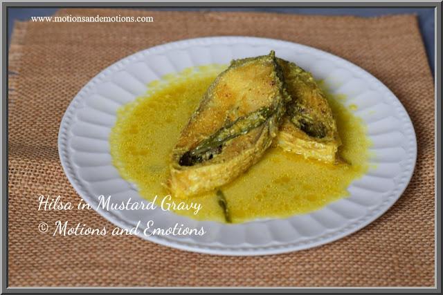 Hilsa in Mustard Sauce