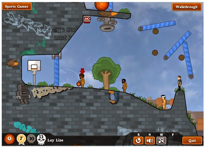 http://www.physicsgames.net/game/Basket_Balls_Level_Pack.html
