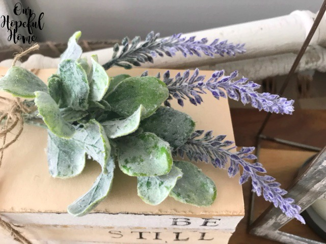 lambs ear lavender twine book decor