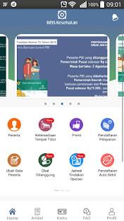 halaman utama aplikasi mobile JKN
