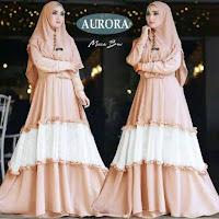 Jual Baju Busana Muslim Gamis Aurora Syari