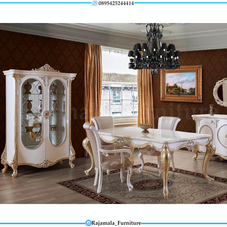 Adorable Design Meja Makan Mewah Jepara Terbaru Luxury Carving RM-0460