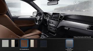 Nội thất Mercedes GLE 400 4MATIC Coupe 2016 màu Nâu Saddle 224
