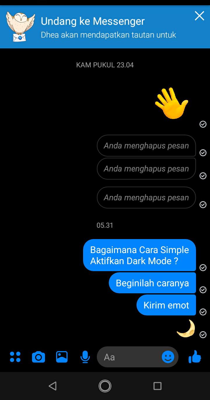 Cara Menyalakan Dark Mode Di Messenger Yang Unik