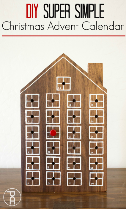 how to diy christmas count down chart calendar advent walnut wood house