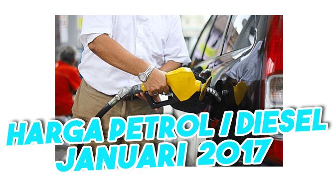 harga petrol diesel jan 2017