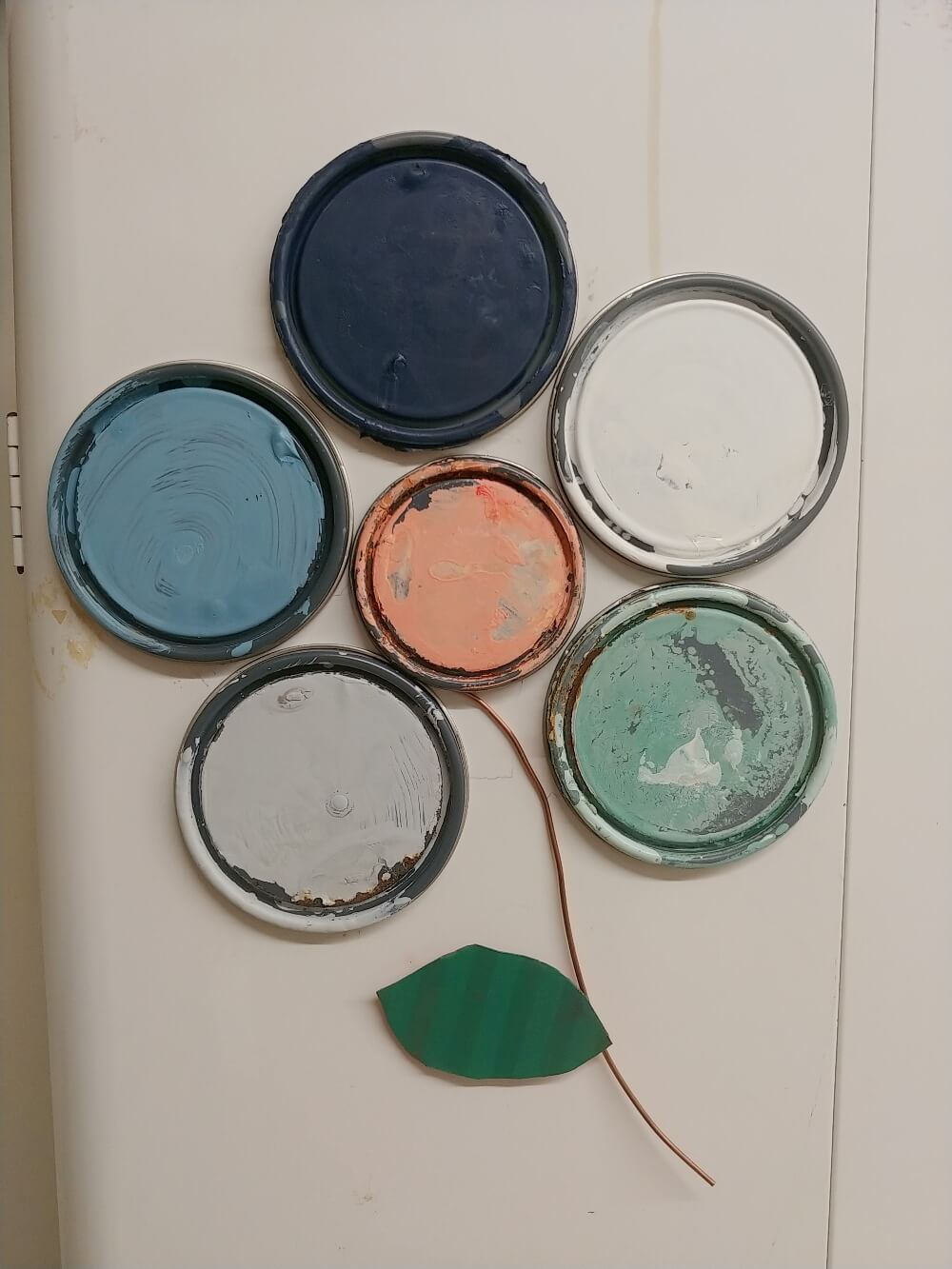 Trash to Treasure Paint Can Lid Flower