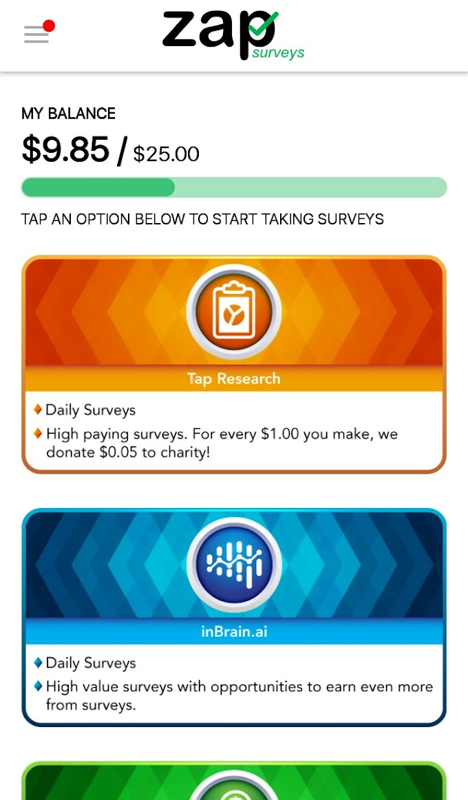 How To Earn $25 (N9000) From Zap Surveys