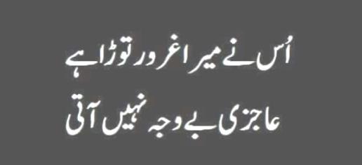 us nay mera garoor tora Urdu Quotes